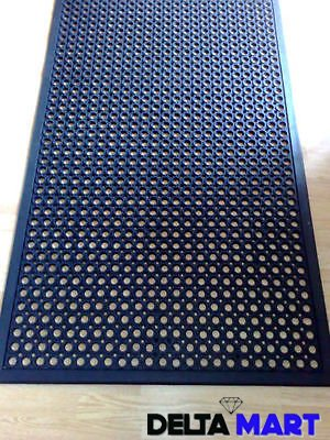 Anti Fatigue Industrial Mats 5 X3 X12 Mm Rubber Stable