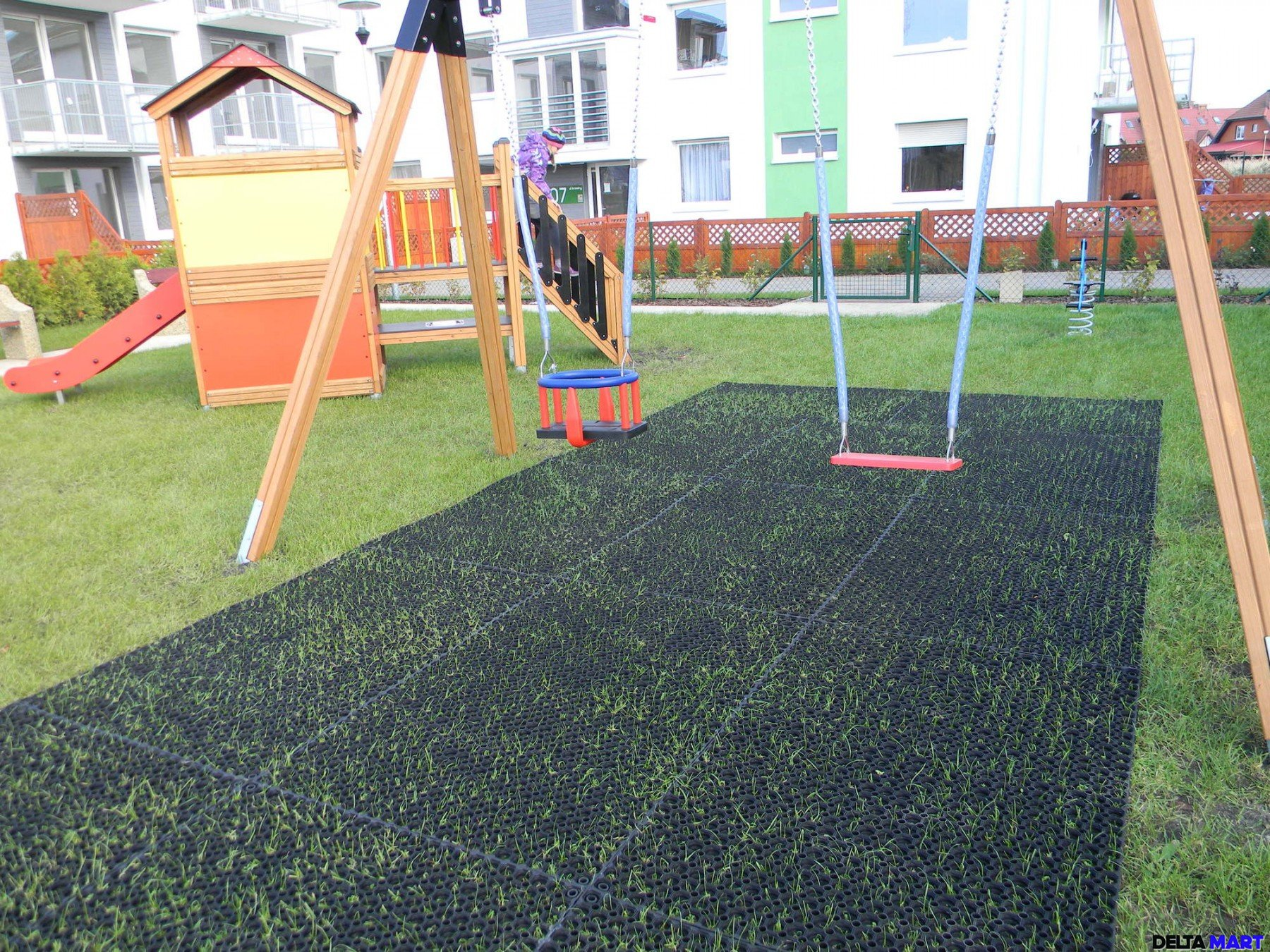 Play Ground Hexagon Safety Mat Rubber Stable Mats Uk