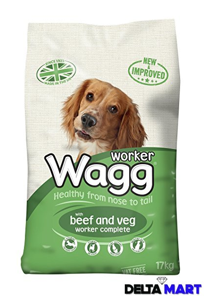 Wagg Worker Dog Food Beef Veg