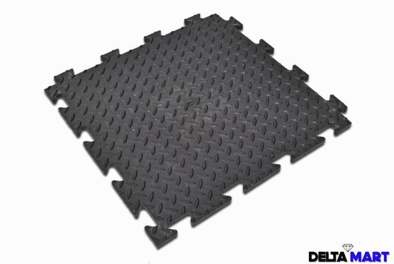 Interlocking Checker Plate Design 1mx1mx12mm Rubber Stable Mats Uk