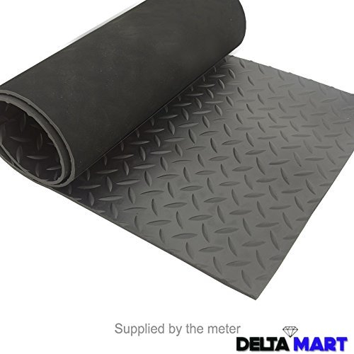 Black Diamond Checker Plate Rubber Mat Flooring