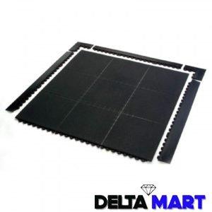 Interlocking Checker Plate Design 1mx1mx12mm Rubber