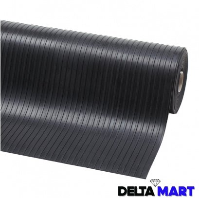 Wide Ribbed Rubber Roll