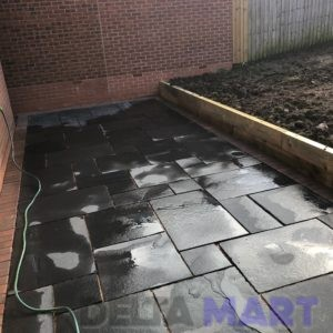 Nature Black Limestone Paving Patio Pack