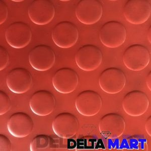 PVC Rubber Sheet Coin Top Design In Red Colour